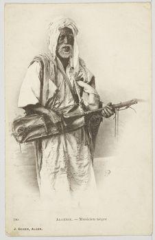 Algérie.- Musicien nègre