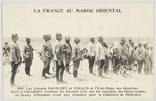 Les colonnels Bavouzet et Feraud et l'Etat-Major des Généraux Alix et Girardot...