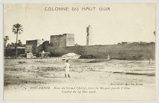 Bou-Denib. Ksar du Grand Chérif, avec la Mosquée percée d'Obus. Combat du 14...