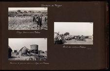 Réserves de graines dans un village avant Madaoua