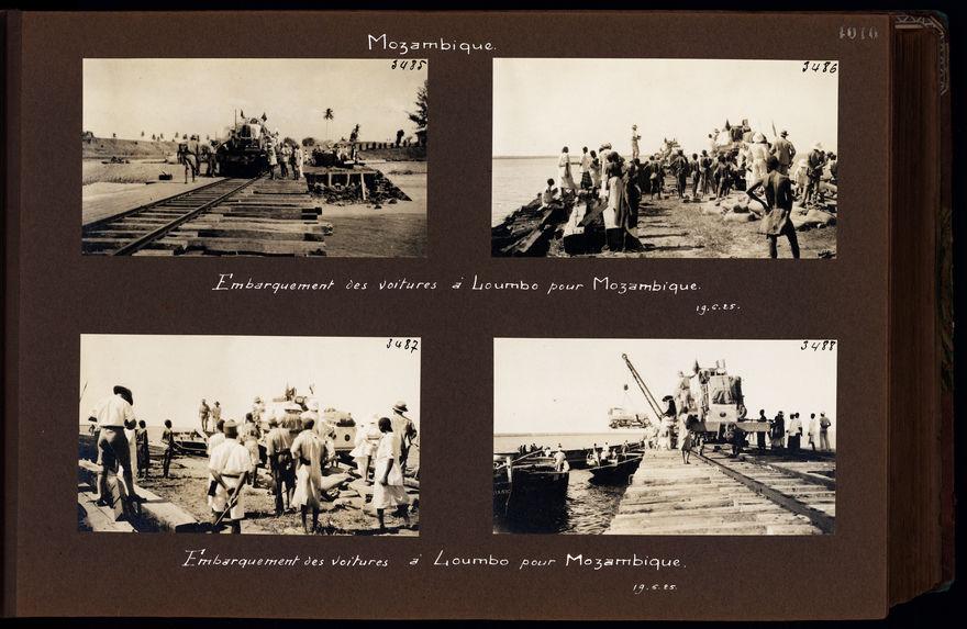 Embarquement des voitures à Loumbo pour Mozambique