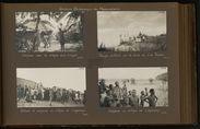 Voitures et indigènes au village de Caporaux