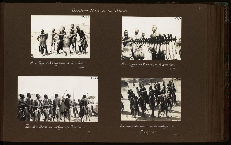 La danse des hommes au village de Mogroum