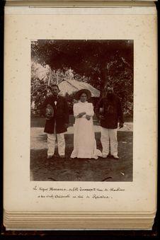 Le régent Marama, sa fille Taapape II, reine de Huahine et son oncle Ariimati...