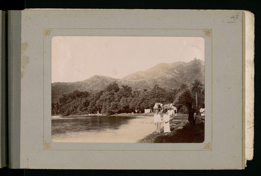 Paysages dans la baie d'Afareaitu à Moorea