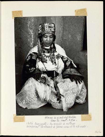 Femme de grand chef berbère dans le Haut-Atlas
