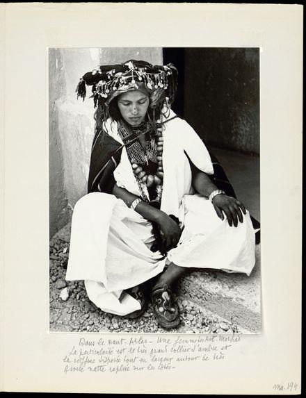 Dans le Haut-Atlas. Une femme des Aït Morhad