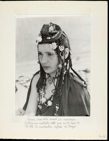 Femme d'une tribu nomade pré-Mauritanie