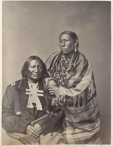 Stone Calf and Wife. Southern Cheyenne
