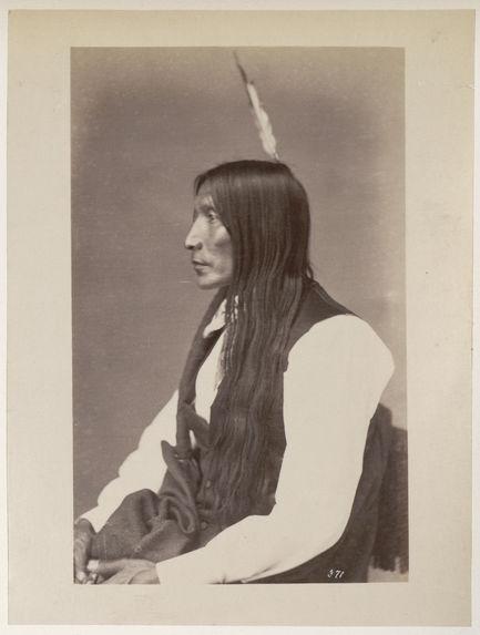 Pa'-Hui Zi-Zi. Yellow Hairs. (Profile.) Brulé