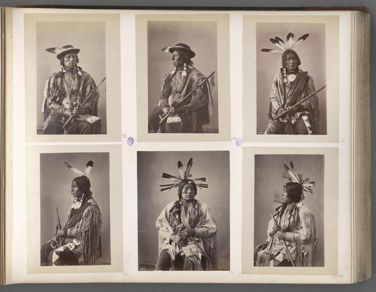 Wi-Cha-Wanmble'. Man who packs the Eagle. (Profile.) Cut Head