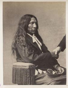 Ma-Hpi'-Ya-Lu'-Ta. Red Cloud. (Profile.) Ogalalla