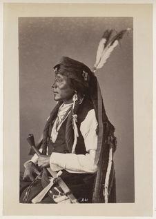 Ma-To'-Chu-Tu'-Hu. Bear's Rib. (Profile.) Oncpapa