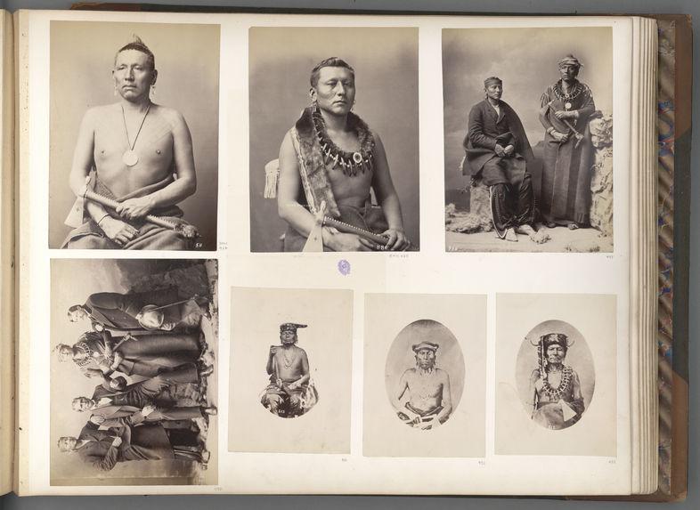Joseph, Black Dog, Ogeas Captain, and J. N. Florer. Osages