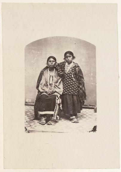 Wah-Kunk-Scha-Kaw, and daughter. Winnebagoes