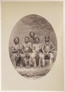 Group of Four Brothers of the Kit-Ka-Hoct Band, viz : La-Roo-Rutk-A-Haw-La-Shar....