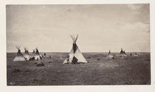 Encampment of Ute Indians, near Denver
