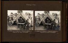MM. Haardt, Bettembourg et Audouin-Dubreuil au campement de chasse de Am-Dafok