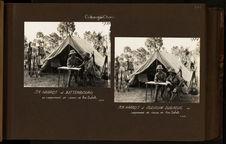 MM. Haardt et Audouin-Dubreuil au campement de chasse de Am-Dafok