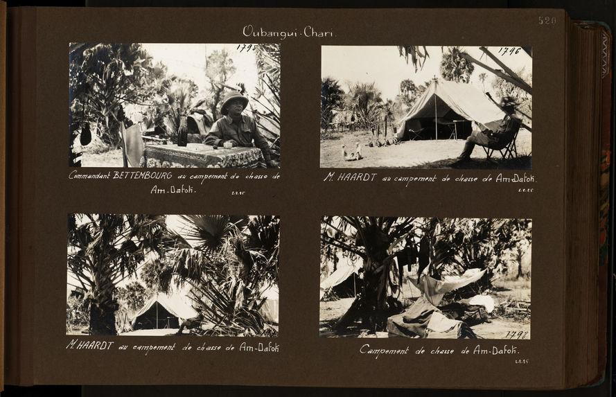 Commandant Bettembourg au campement de chasse de Am-Dafok