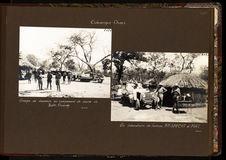 Groupe de chasseurs au campement de chasse de Bahr-Ouandja