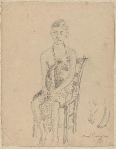 """Jeune fille assise, """"Anouébouiagnio&quot"""