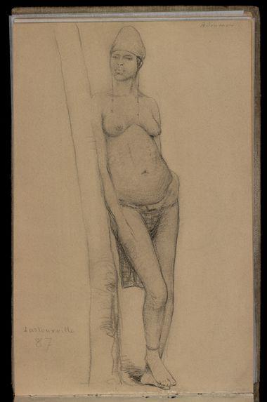Sans titre [Carnet de dessins n° 8 de la Mission Brazza (1887-1888)]