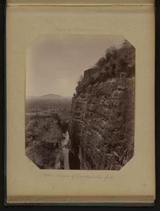 East scarpe of Daulatabad fort