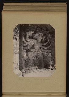 Caves d'Ellora, Shiva en Virabhadra