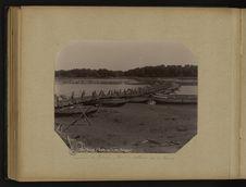 Environs de Lahore, pont de bateaux sur la Ravee