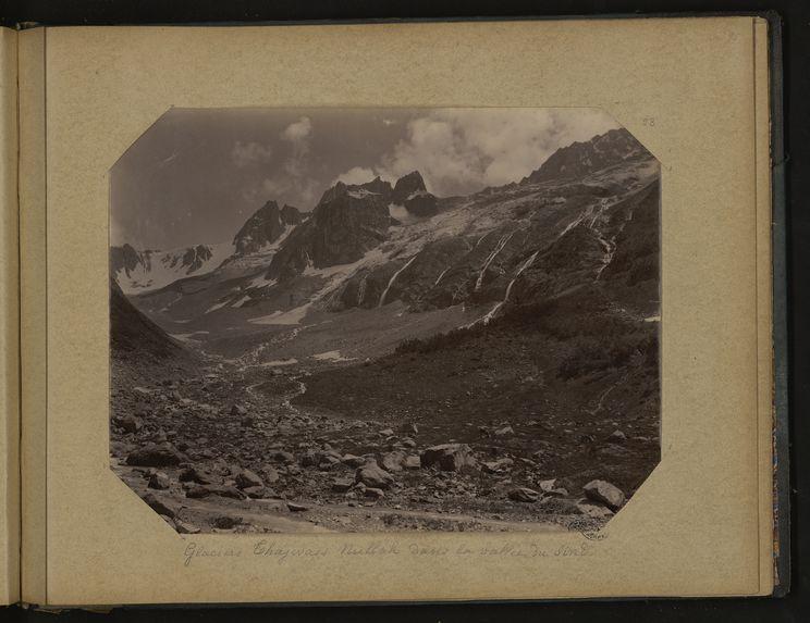 Glaciers Thajwass [Thajiwas] Nullah dans la vallée du Sind