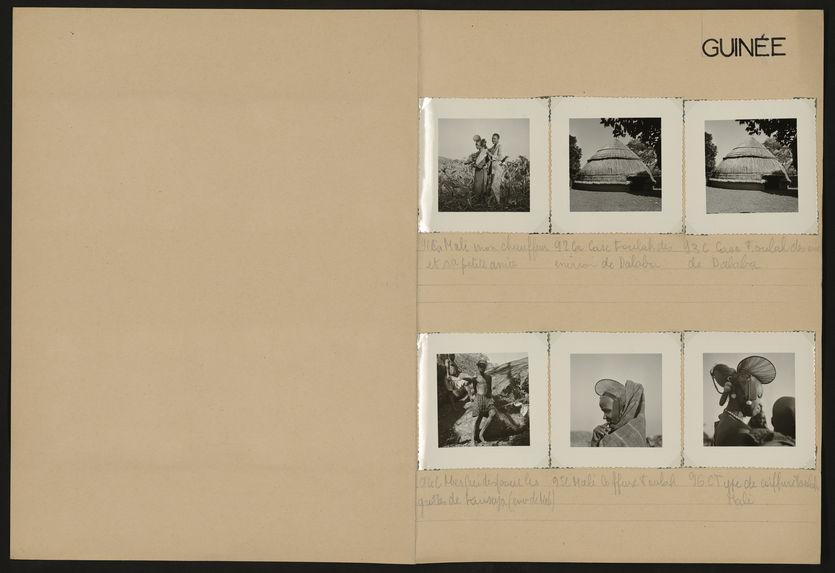 Guinée [paysages, portraits, habitations et animal mort]