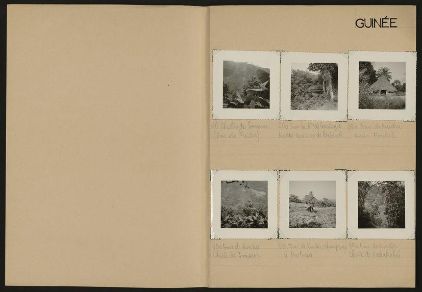 Guinée [paysages, grandes cases circulaires et portraits]