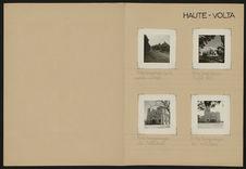 Haute-Volta [différentes constructions, paysages et portraits]