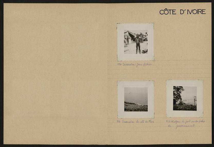 Côte d'Ivoire [musicien, danseurs, tisserand, plage et portrait de groupe]