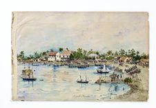 Promenade militaire autour de Papeete, 1861. Départ de Papeete