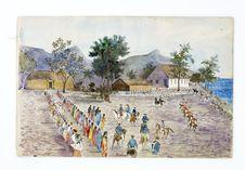 Promenade militaire autour de Papeete, 1861. Mahanea