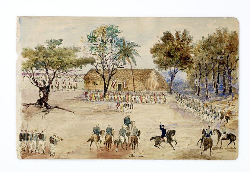 Promenade militaire autour de Papeete, 1861. Matavaï