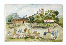 Promenade militaire autour de Papeete, 1861. Toahotu