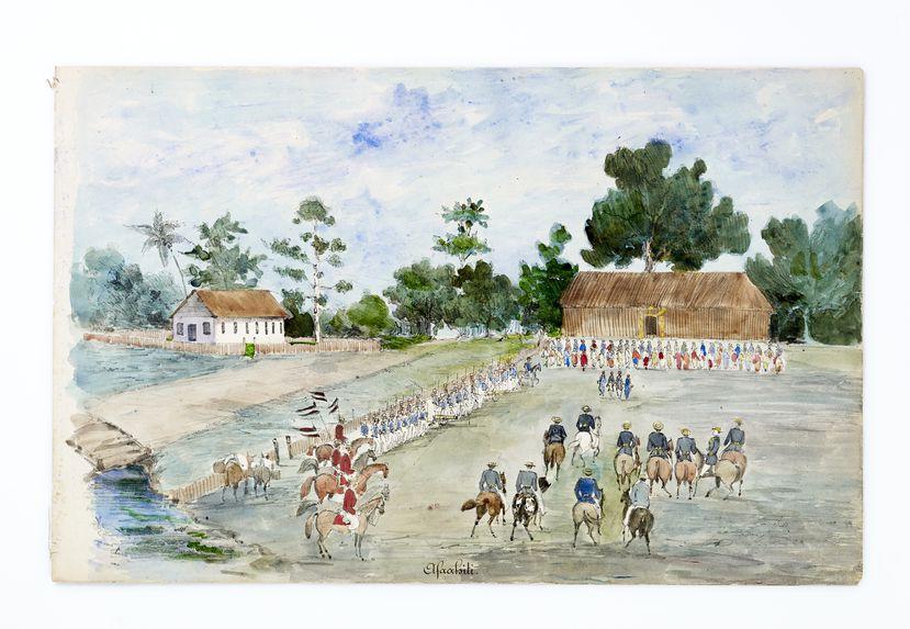 Promenade militaire autour de Papeete, 1861. Afaahiti
