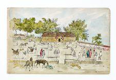 Promenade militaire autour de Papeete, 1861. Papeari