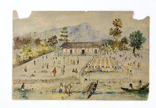 Promenade militaire autour de Papeete, 1861. Tea Hupoo