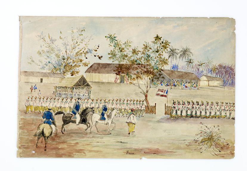 Promenade militaire autour de Papeete, 1861. Paea