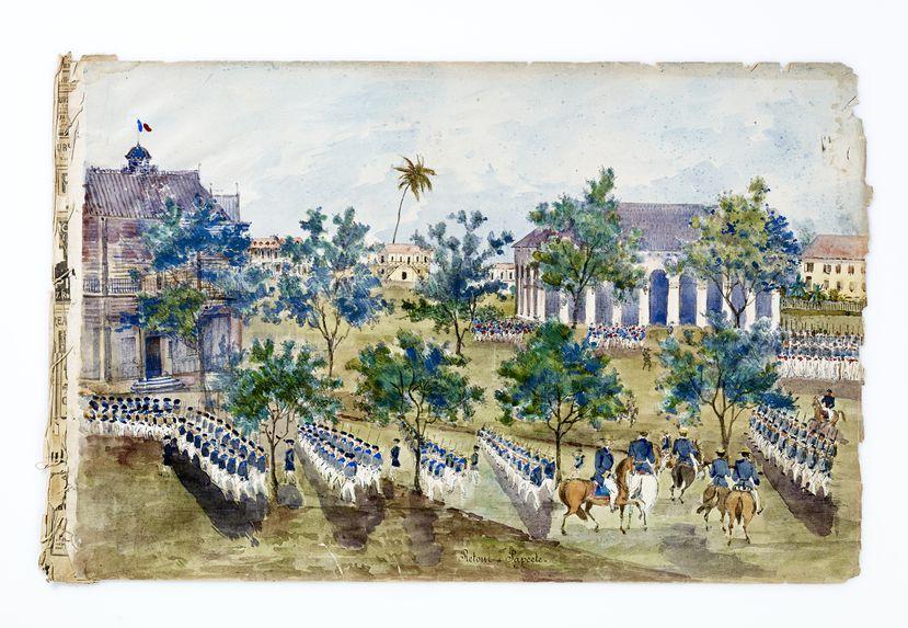 Promenade militaire autour de Papeete, 1861. Retour à Papeete