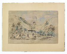 Promenade militaire autour de Papeete - 1861 - Punoania