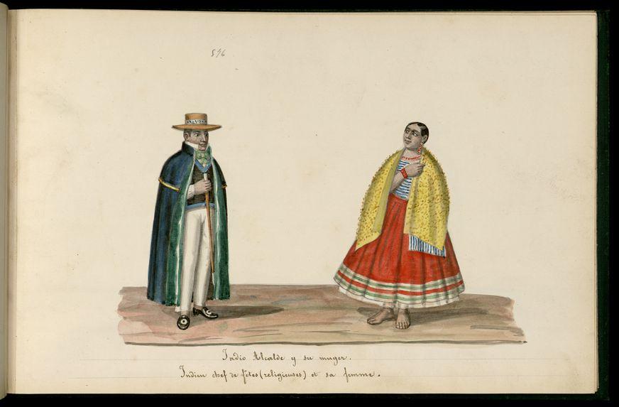 Indien chef de fêtes (religieuses) et sa femme