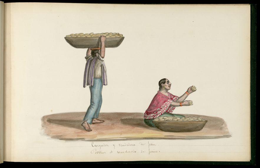Porteur et marchande de pains