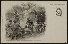Joueurs indigènes et coiffeur