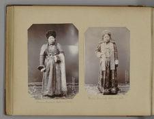 Femme Bouriate. Costume d'hiver