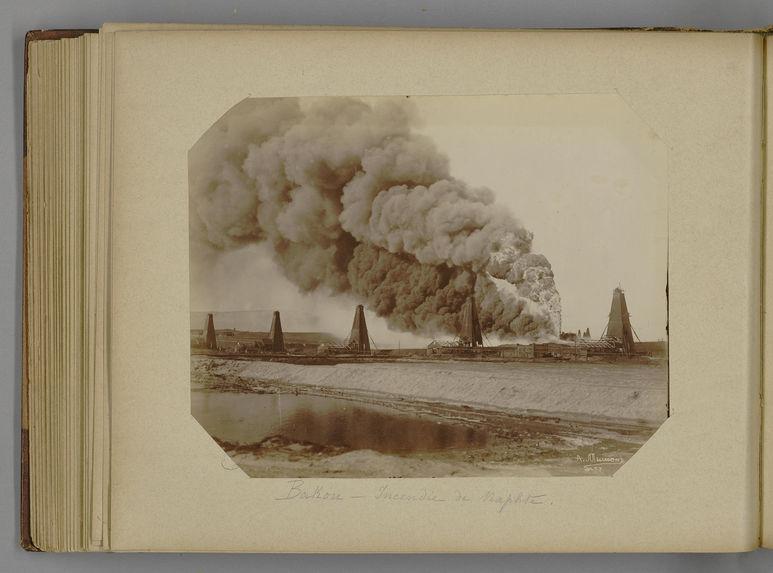 Bakou - Incendie de naphte